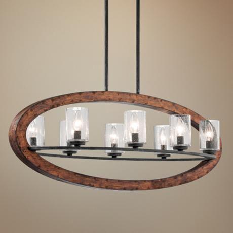 Kichler Grand Bank 36  Wide 8-Light Auburn Island Pendant & Best 25+ Light auburn ideas on Pinterest | Strawberry brown hair ... azcodes.com