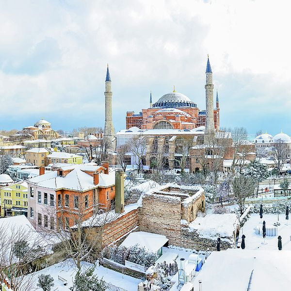 Hagia Sophia Mosque Istanbul In Winter By Safran Fine Art Hagia Sophia Istanbul Winter Photograph