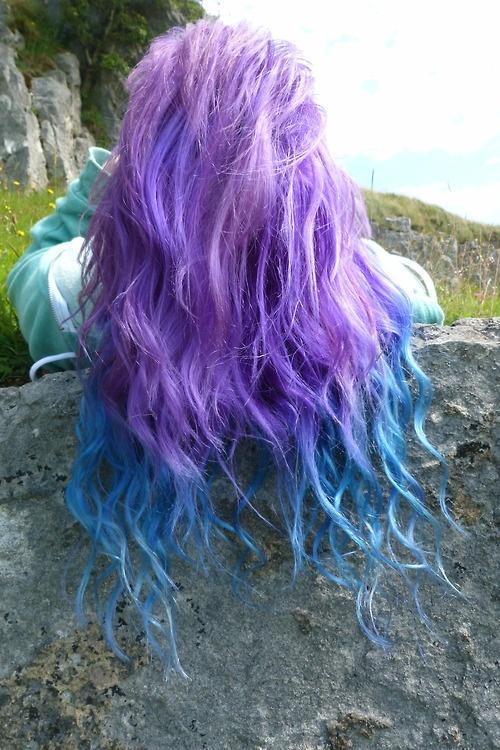 blue purple hair tips purple hair with blue tips hair