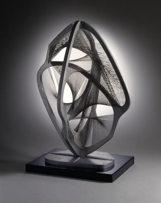 Linear Construction in Space No. 4, by Naum Gabo, 1959