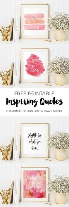 Free Printable // Inspiring Quotes