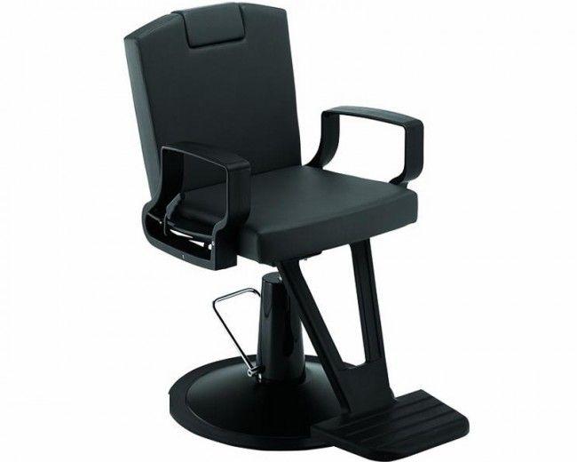 Scaun frizerie AGV Atlas negru. Culoarea negru Pompa hidraulica blocabila Dimensiuni: - Latime: 60cm - Adancime: 63cm - Inaltime: 54cm + 44cm