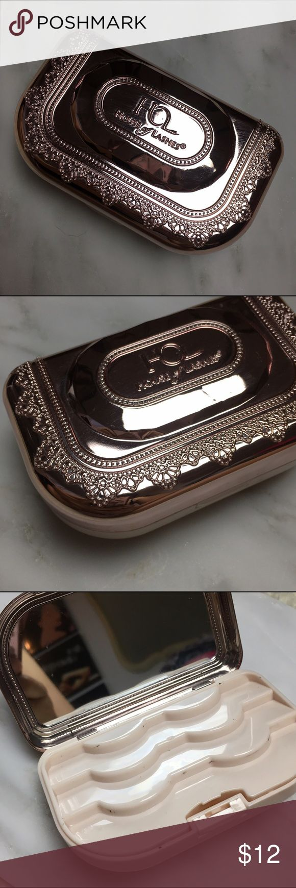 House Of Lashes Precious Gem Case Rose Gold Give your treasured items a home to feel cherished and secure! This double decker eyelash case features room to hold three pairs of fake lashes on the first layer, then stashed away beneath this layer, the perfect spot to hold our 3ml lash glue bottle with a little extra room to spare! Case also includes a mirror for applying and removing lashes on the go! Lightweight, portable, and eye-catching, this jeweled case is a brilliant keepsake for your…
