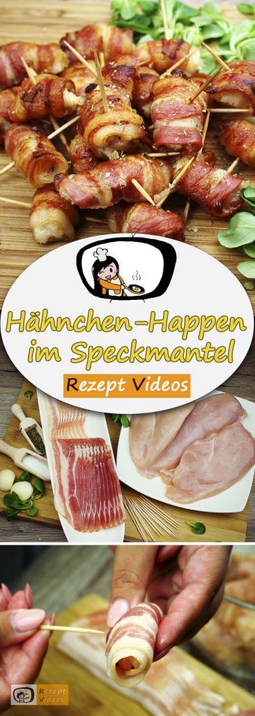 Hähnchen-Happen im Speckmantel, Rezeptvideos, einfache Rezepte, Hähnchenrezepte, leckere Rezepte