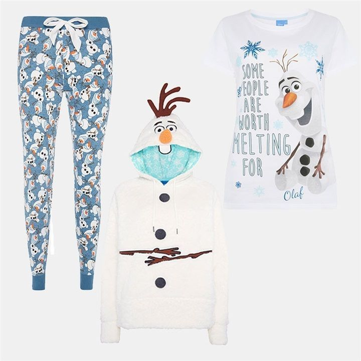 primark disney frozen olaf lounge t shirt or bottoms new. Black Bedroom Furniture Sets. Home Design Ideas