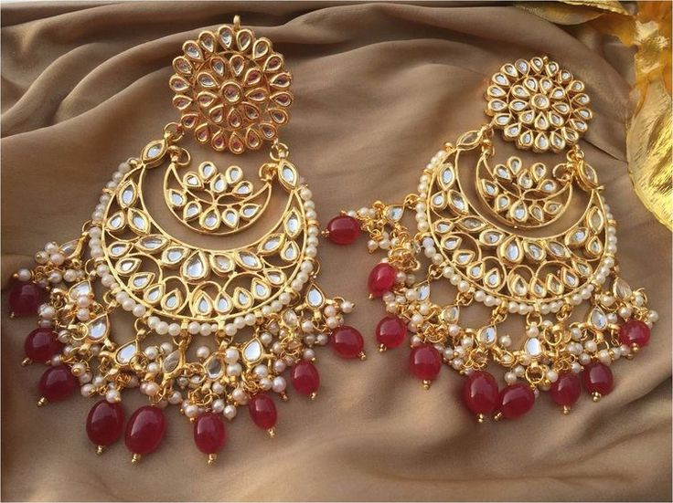 Wedding Chandbali    Buy this chandbali at instagram: i_heartfashionstore Pinterest • @KrutiChevli
