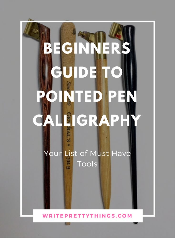 Beginners Guide to Pointed Pen Calligraphy - Essential Tools