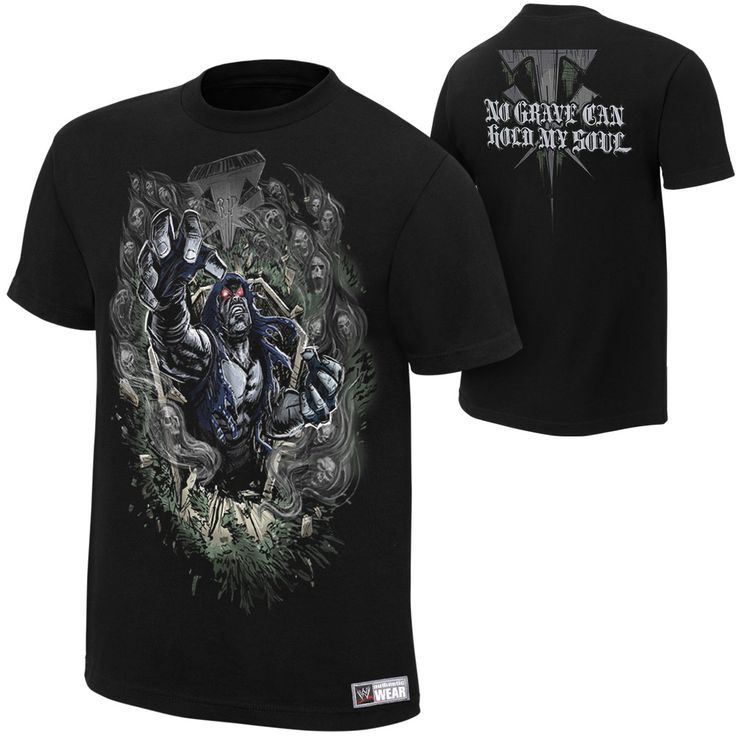 """Undertaker """"No Grave Can Hold My Soul"""" Authentic T-Shirt - #WWE"""