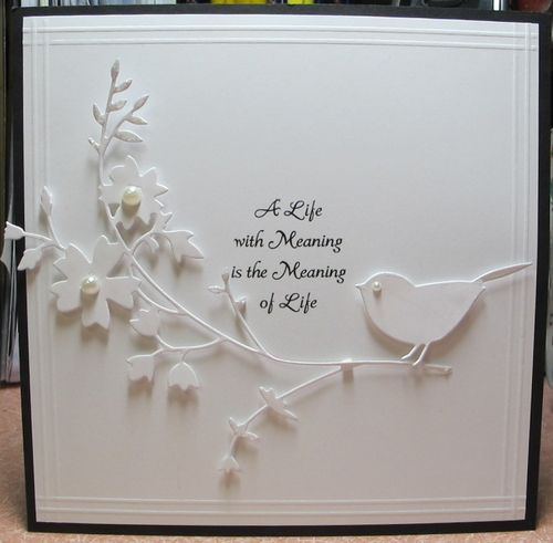 Love the White on White  -  A Life Honeyblossom by Susie B - Cards and Paper Crafts at Splitcoaststampers