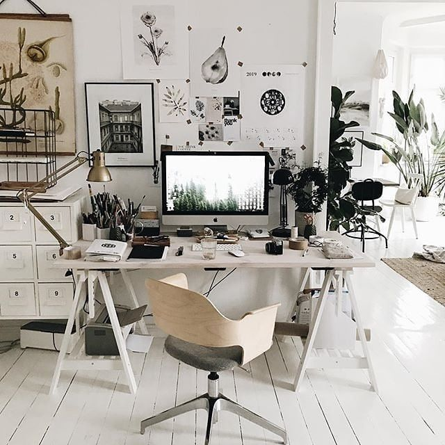 Fancy A Scandinavian Style Home Office Desk Here Is A Charming Workspace Inspirati Office Inspiration Workspaces Scandinavian Style Home Workspace Inspiration