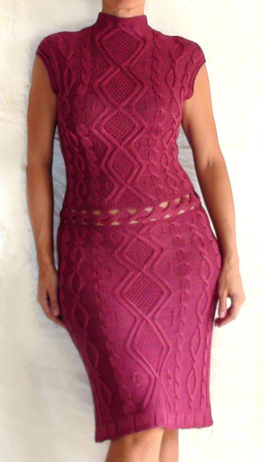 El hacer punto hecho a mano vestido Tapiz - Textiles