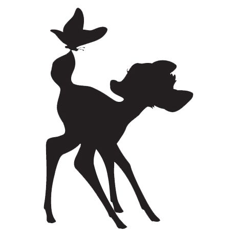 bambi silhouette - Google Search                                                                                                                                                     More
