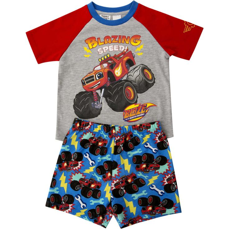 Blazing speed and Monster Machines…what a mix! Let your very own little monster blaze his way into Z-land with the most perfect Monster Machines PJ set! Soft cotton, short sleeved crew tee teamed with co-ordinating shorts. The bottoms feature an elasticised waistband for a comfortable and secure fit throughout the night.