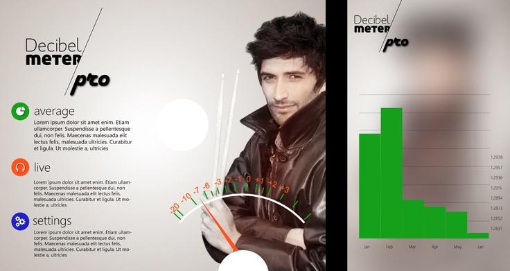 New skin of Decibel Meter - app for Windows Phone.