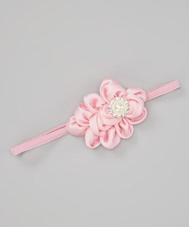 Take a look at this Light Pink Vintage Ruffle Headband by Chicaboo on #zulily today!