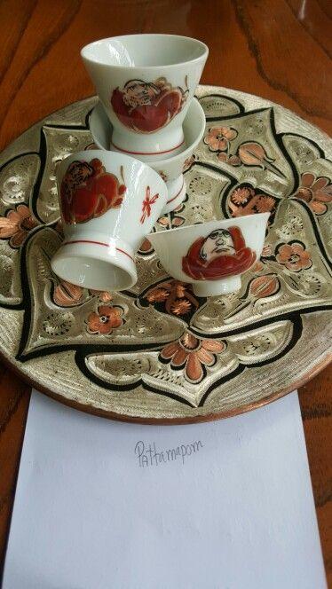 #Daruma  Bodhidharna red wasp it was made Showa period 1926-1989