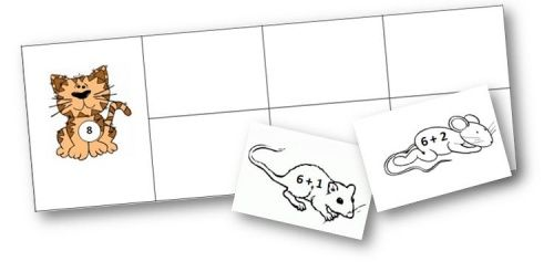 Jeu CP: chats et souris des additions - Le petit cartable de Sanleane