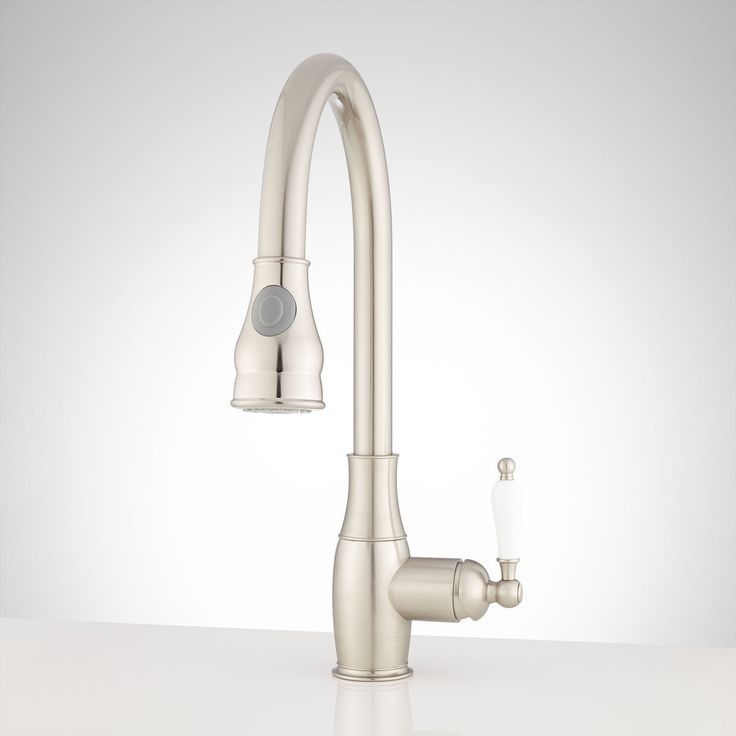 Bert singlehole pulldown kitchen faucet in brushed