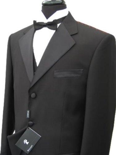 Men 39 s 3 buttons tuxedo suit shirt bow tie squires for Tuxedo shirt black buttons