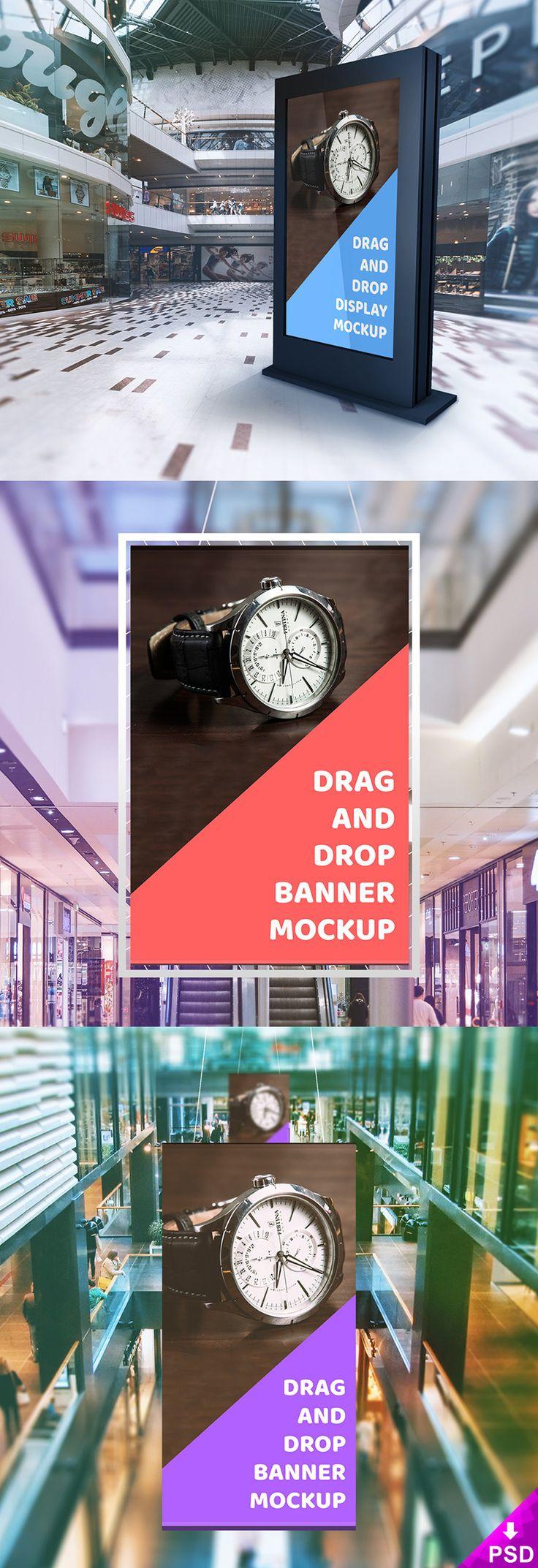 Mall Billboard PSD Mockup