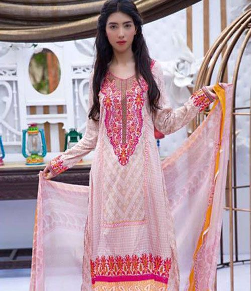 Abeeha By Rana Arts Embroidered Lawn Suits Collection DA_239(B)