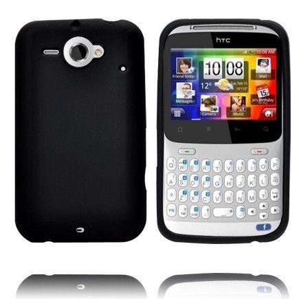 Soft Shell (Musta) HTC ChaCha Silikonisuojus