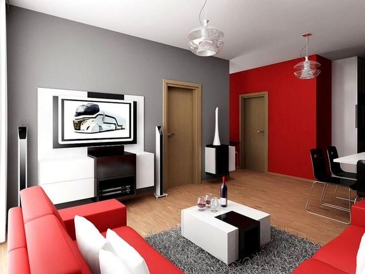 Contemporary Art Websites Best Red Wallpaper Ideas For Living Room http lovelybuilding