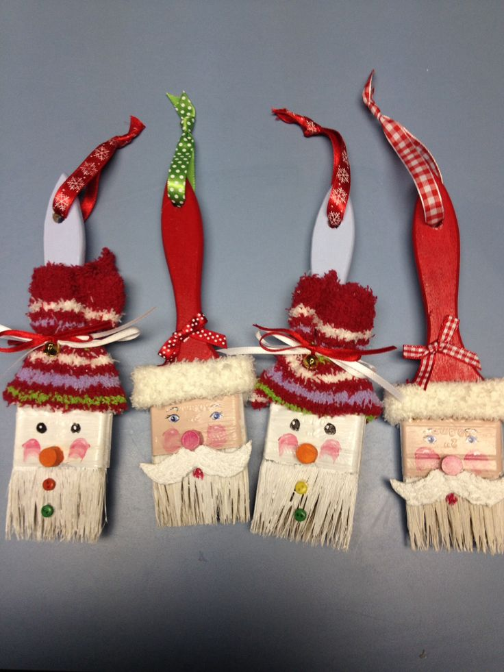 Paintbrush ornaments.