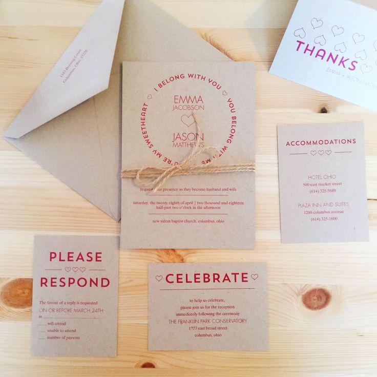 Belong Together   Wedding Invitation Suite   Davidu0027s Bridal #rusticweddings  #davidsbridal #invitations