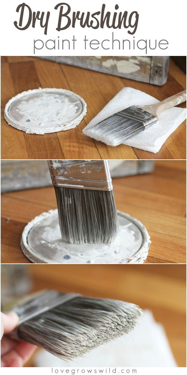 Learn this dry brushing paint technique for furniture and more! I use it all the time! | LoveGrowsWild.com