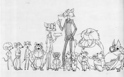 Living Lines Library: Macskafogó / Cat City (1986) - Model Sheets, Characters