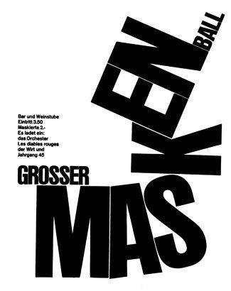 Emil Ruder, Maskenball, 1969