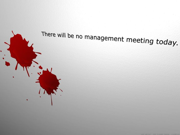 there will be no management meeting today