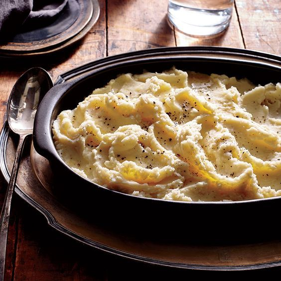 Buttermilk Mashed Potatoes - Cooking Light ...making ahead, keep the potatoes warm by placing in a heatproof bowl,...  .