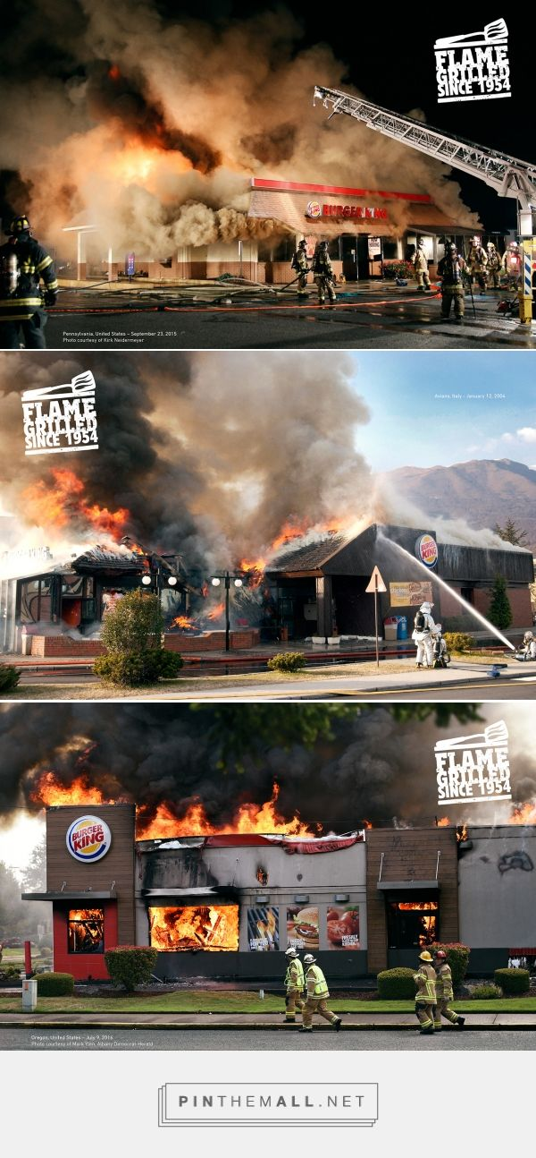 Burger King's Awesome New Ads Show Actual BKs That Caught Fire From Flame-Grilling – Adweek - created via https://pinthemall.net