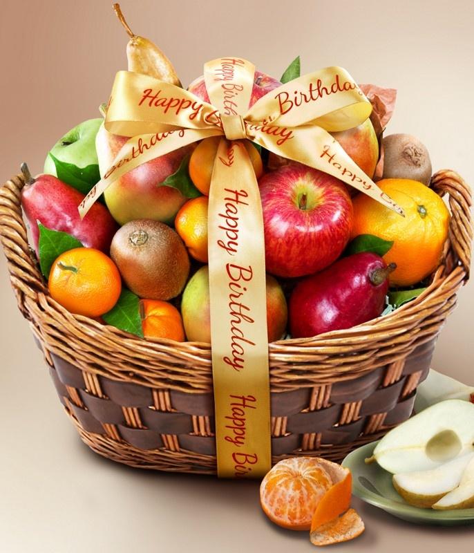 поздравление к подарку из корзины с фруктами сцене всегда