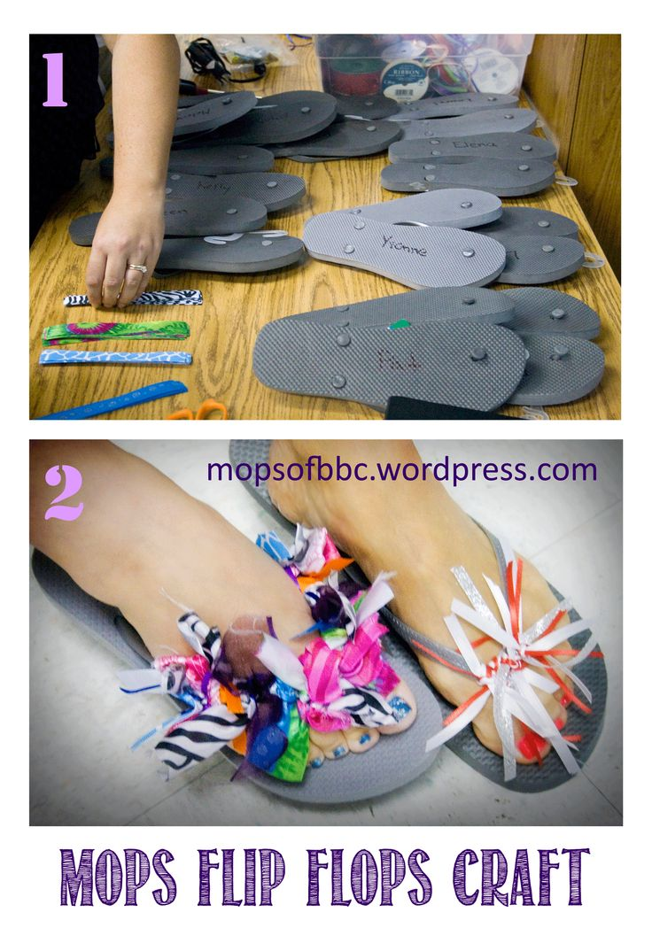 A Flip Flop Craft from MOPS from one of their retreats.