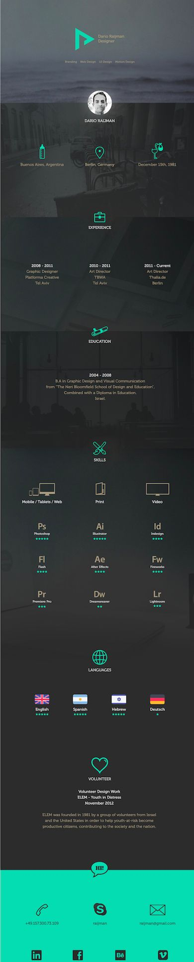 creative resume designs 2014 22 best digital CV images on