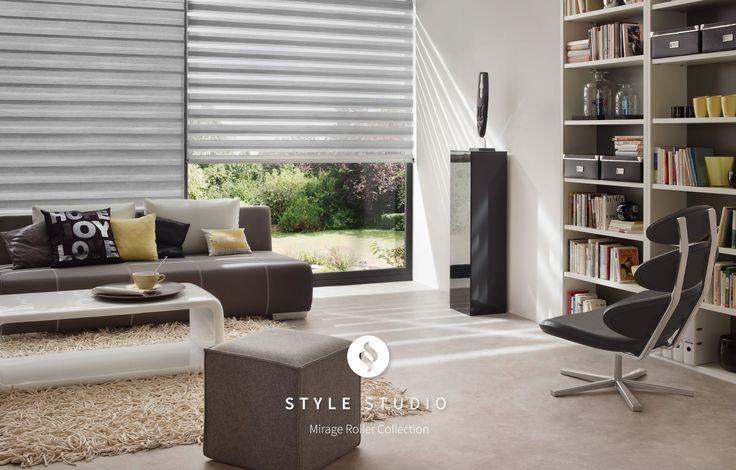 Lustre Chrome Style Studio Mirage Roller Blind