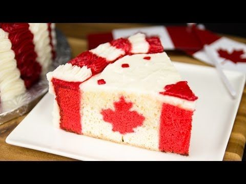 Canadian Flag Cake for Canada Day from Cookies Cupcakes and Cardio - YouTube