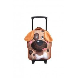 Schattige honden kindertrolley met veel ruimte voor kleren en speelgoed.