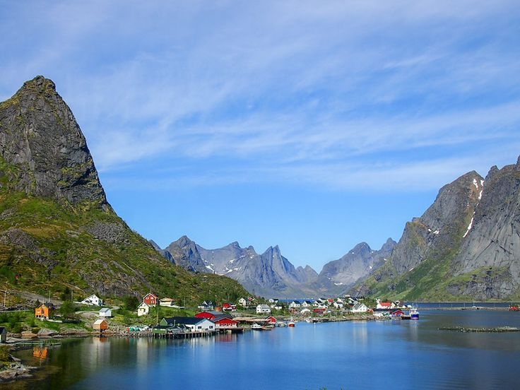 Picturesque Town of Reine, Lofoten Islands, Norway