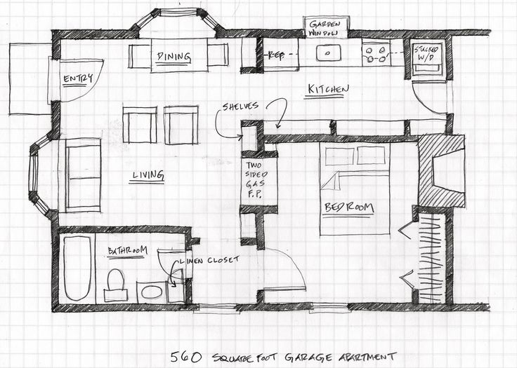 Small Scale Homes Floor Plans For Garage To Apartment Conversion Shop Remodel Pinterest