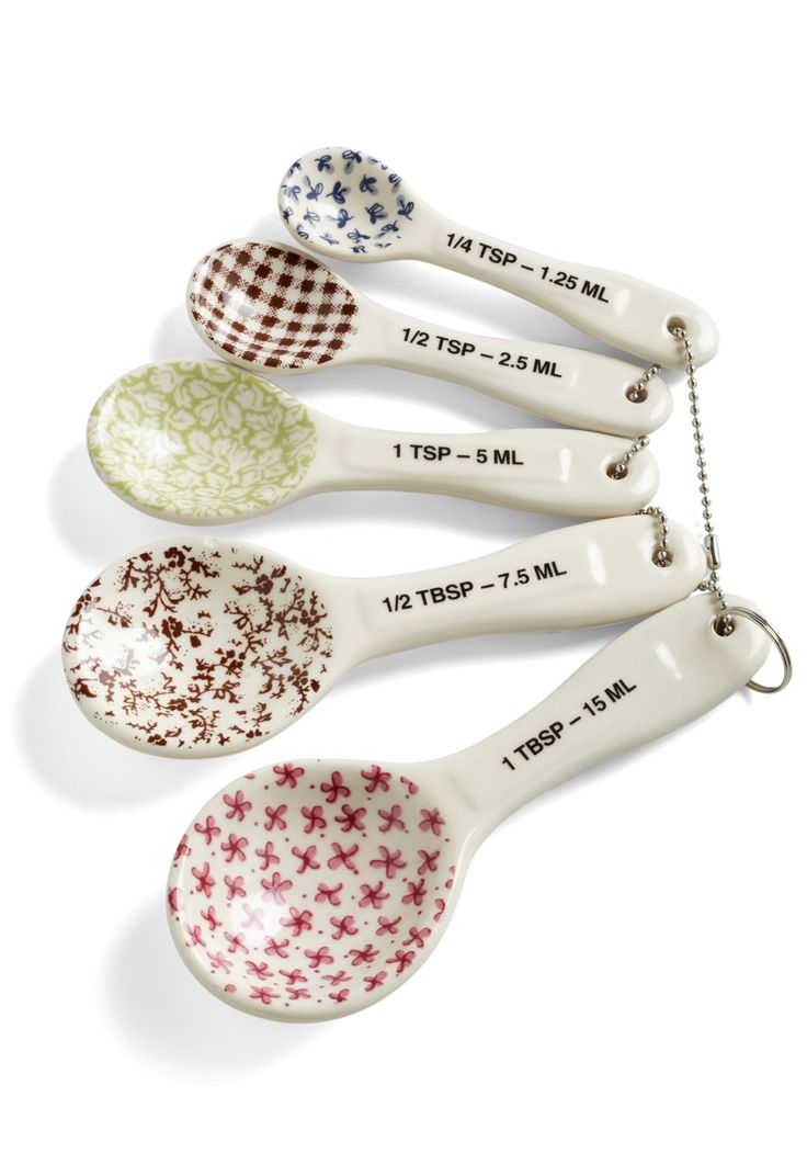 Spice Craft Measuring Spoons - Multi, Vintage Inspired. These are so cute. I love cooking and baking anyway, but these make it even more fun!