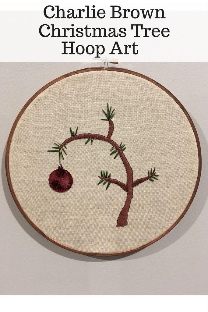 Charlie Brown Christmas Tree Hoop Art In 2020 Charlie Brown Christmas Tree Christmas Embroidery Patterns Hoop Art