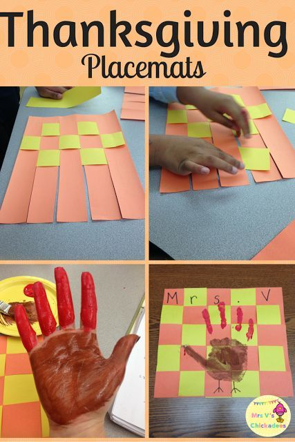 DIY Thanksgiving craft/activity for kids in the classroom. Have fun while teaching fine motor skills and making a paper placemat.