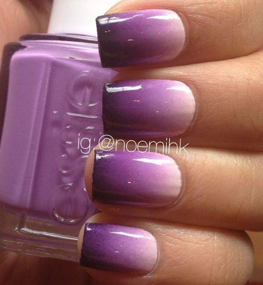 16 Super Cool Ombre Gradient Nail Art Tutorials: Best 20+ Purple Nail Designs Ideas On Pinterest