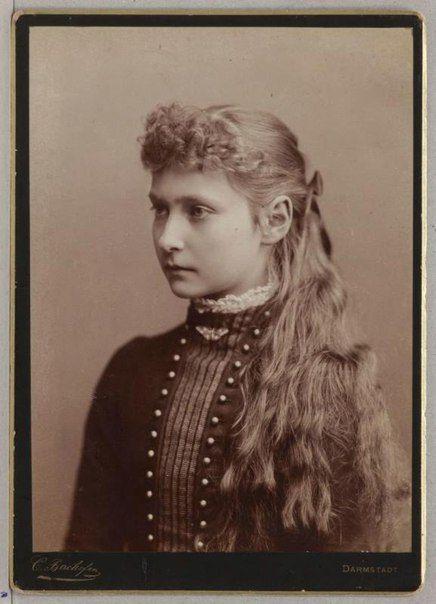Princess Alix Victoria Helena Louise Beatrice of Hesse and by Rhine. Future Empress Alexandra Feodorovna. Courtesy: VK Group/Doma Romanov
