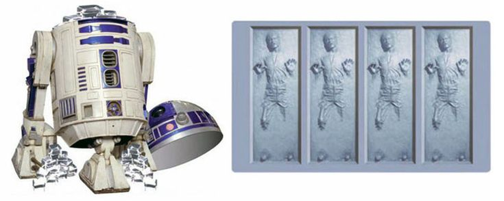 Hans Solo Frozen in Carbonite Ice Cube Tray with R2-D2 Ice Bucket - Still a Pre-Order Item Right Now Though