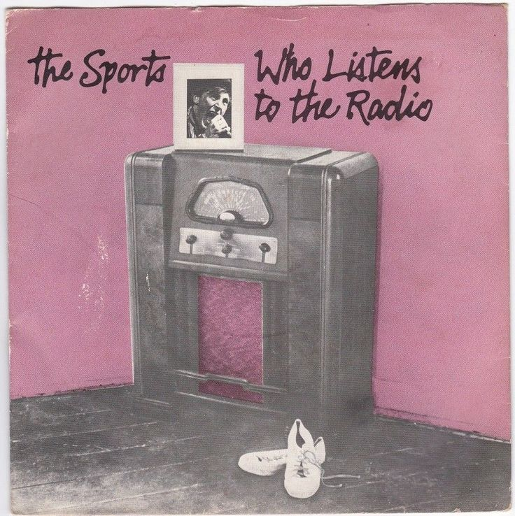 """The Sports - Who Listens to the Radio, 7"""" vinyl, Sire records, c.1979, new wave"""